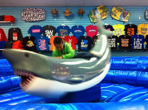 Seaside's mechanical shark ride