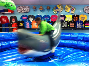 shark ride in Seaside, Oregon