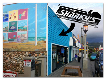 Sharky's in downtown Seaside, Oregon